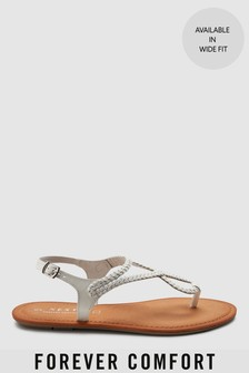 Plaited Toe Thong Sandals