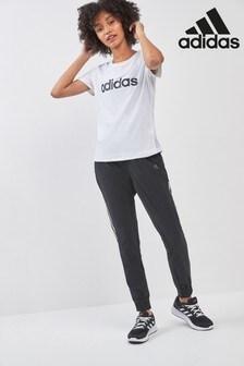 adidas Black Woven 3 Stripe Jogger