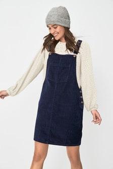 Cord Pinny Dress