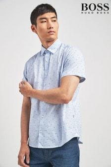 BOSS White Rash Stripe Short Sleeve Shirt