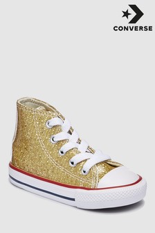 Converse Infant Sequin Chuck Ox High Top Trainer