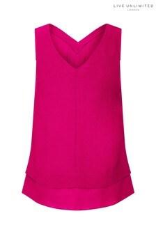 Live Unlimited Pink Morocain Vest