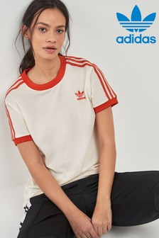 adidas Originals Ecru 3 Stripe Tee