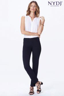 NYDJ Sheri Schmal geschnittene Jeans, schwarz