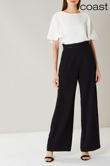 Coast Black Sicily Wide Leg Trouser