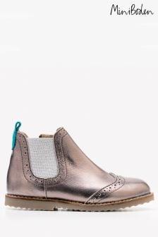 Boden Metallic Leather Chelsea Boot