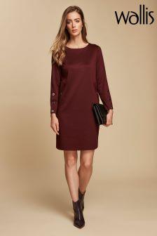 Wallis Purple Stud Sleeve Ponte Shift Dress