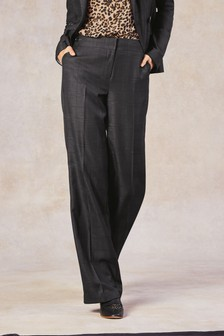 Shadow Check Wide Trousers