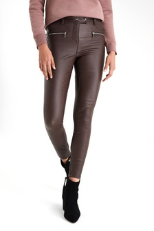 Coated Biker Skinny Jeans