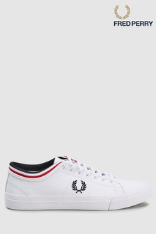 Fred Perry White Kendrick Tipped Cuff Trainer