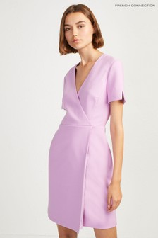 French Connection Pink Wrap Dress