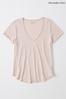 Abercrombie & Fitch Pink Basic T-Shirt