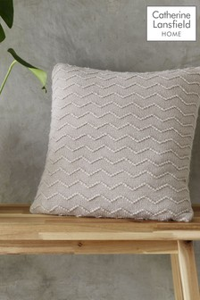 Chevron Knit Cushion by Catherine Lansfield