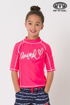 Animal Red Molli Short Sleeve Rash Vest