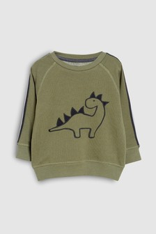 Dino Embroidery Crew (3mths-7yrs)