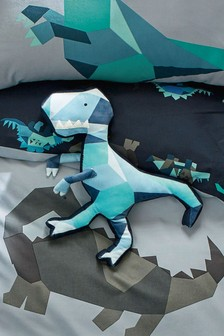 Geometric Dinosaur Cushion