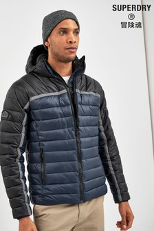 Superdry Black Fuji Racer Coat