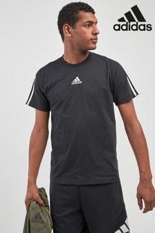 adidas Black Must Have 3 Stripe Tee
