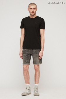 AllSaints Grey Wash Denim Switch Short