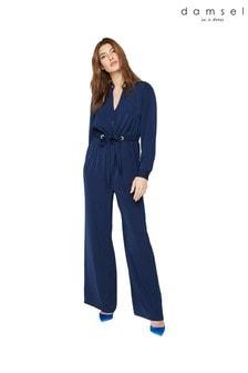 Damsel In A Dress Blue Hannah Jumpsuit
