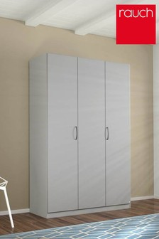 Cameron Grey Triple Hinged Wardrobe by Rauch