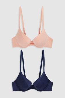 Cara Push Up Plunge Bras Two Pack