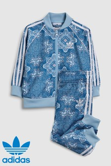 adidas Originals Baby Blue Printed Superstar Set