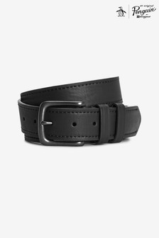 Original Penguin® Black Logo Casual Belt