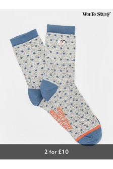 White Stuff Embroidered Sheep Socks