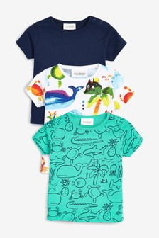 ba1b5e244 Sea Print T-Shirt Three Pack (0mths-2yrs)