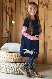 Frugi Blue Holly Alpine Friend Cord Dress