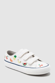 Fruit Embroidered Strap Trainers (Older)