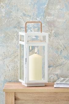 White And Rose Gold Lantern