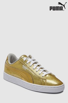 Puma® Metallic Basket Junior Trainer