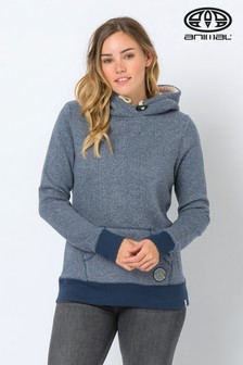 Animal Navy Stitched Knit Overhead Hoody