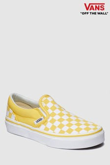Vans Yellow Check Slip-On Youth Trainer