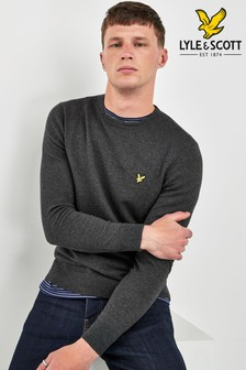 Lyle & Scott Crew Neck Cotton Merino Jumper