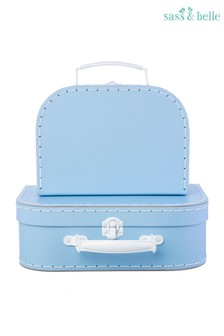 Set of 2 Sass & Belle Pastel Blue Suitcases