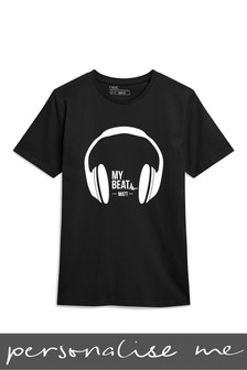 Personalised Headphone T-Shirt