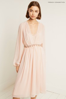 French Connection Pink Alana Drape Dress