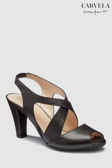 Carvela Comfort Black Leather Arabella Heeled Sandal