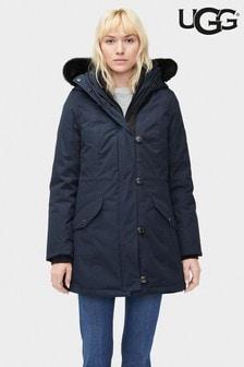 UGG® Navy Longline Parka Coat