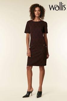 Wallis Berry Jacquard Shift Dress