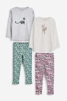 2 Pack Character Legging Pyjamas (3-16yrs)