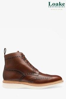 Loake Burgundy Mamba Brogue Boots