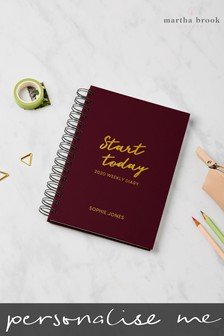 Personalised Start Today 2020 Diary by Martha Brook