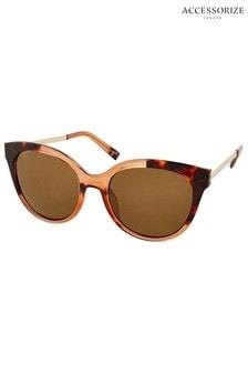 Accessorize Brown Two Tone Wayfarer Sunglasses