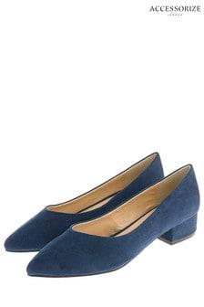 Accessorize Blue Vicky V-Point Shoe