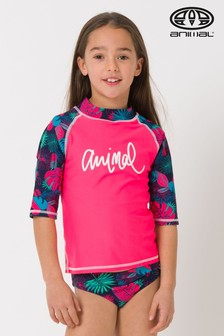 Animal Red Paddle Rash Vest Suit