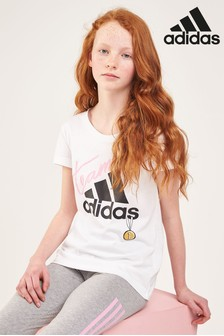 adidas White ID Graphic Tee